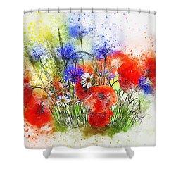 Watercolour Bouquet Shower Curtain