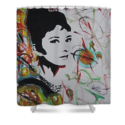 Lovely Hepburn Shower Curtain