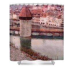 Lovely Lake Lucerne Shower Curtain by Susan Maxwell Schmidt