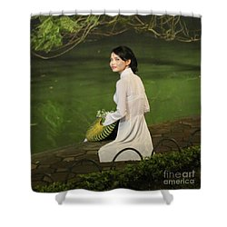 Lovely Vietnamese Woman  Shower Curtain