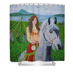 Lover / Virgin Goddess Rhiannon - Beltane Shower Curtain