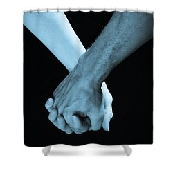 Lovers Hands Shower Curtain