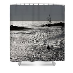 Lover's Key Sparkles Shower Curtain