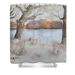 Lovers' Lake Shower Curtain