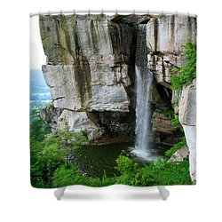 Lover's Leap Waterfall Shower Curtain by April Patterson
