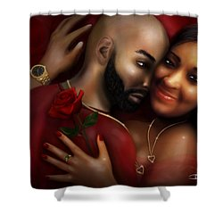 Lovers Portrait Shower Curtain