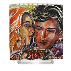 Lovers Shower Curtain by Rita Fetisov
