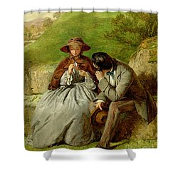 Lovers Shower Curtain by William Powell Frith