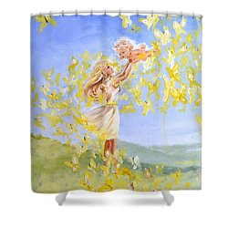 Love's Flight Shower Curtain