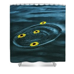 Loves Me, Loves Me Not Shower Curtain by Juli Ellen