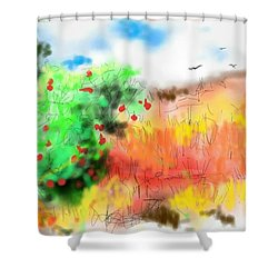 lovin Idaho autumn Shower Curtain