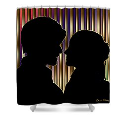 Shower Curtain featuring the digital art Loving Couple - Chuck Staley by Chuck Staley