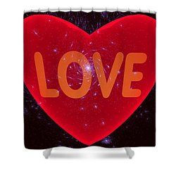 Loving Heart Shower Curtain