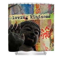 Loving Kindness. Buddha Shower Curtain