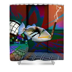 Loving Life Saltwater Triggerfish Shower Curtain