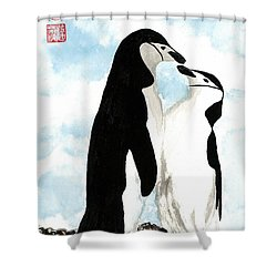 Loving Penguins Shower Curtain