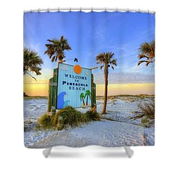 Loving Pensacola Beach Shower Curtain