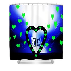 Loving The Seattle Seahawks Shower Curtain by Eddie Eastwood
