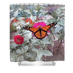 Loving The Zinnias Shower Curtain