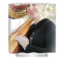 Low-angle Portrait Shower Curtain