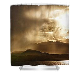 Low Clouds On The Colorado Rocky Mountain Foothills Shower Curtain by James BO  Insogna