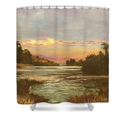 Low Country Sunset Shower Curtain