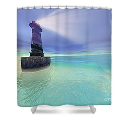 Low Fog Shower Curtain by Corey Ford