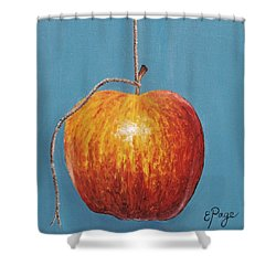 Low Hanging Apple Shower Curtain by Emily Page