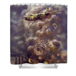 Low Level Attack Shower Curtain