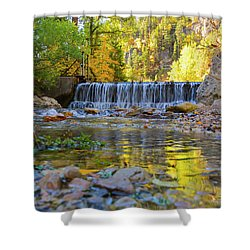 Low Look At The Falls Shower Curtain