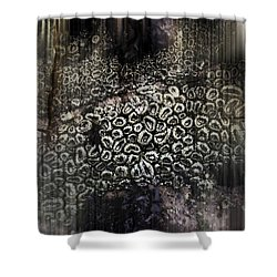 Low Tide Abstraction Shower Curtain