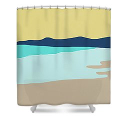 Low Tide- Art By Linda Woods Shower Curtain by Linda Woods