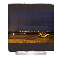 Low Tide At Dusk Shower Curtain