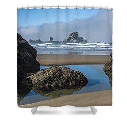 Low Tide At Ecola Shower Curtain