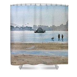 Low Tide At Rose Bay Shower Curtain