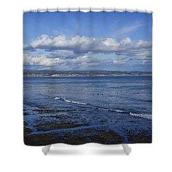 Low Tide At The Hook, Santa Cruz Ca Shower Curtain