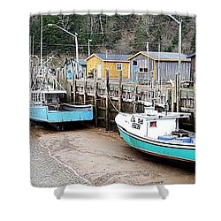 Low Tide In St. Martins Shower Curtain