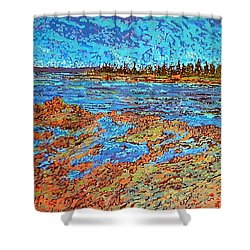 Low Tide Oak Bay Nb Shower Curtain