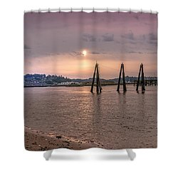 Low Tide Posts Shower Curtain