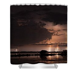 Low Tide With High Energy Shower Curtain