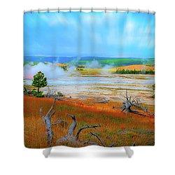 Lower Basin Shower Curtain by Mark Dunton