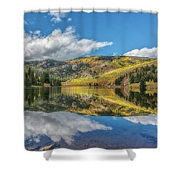 Lower Cataract Lake Aspen Shower Curtain