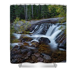 Shower Curtain featuring the photograph Lower Copeland Falls by Gary Lengyel