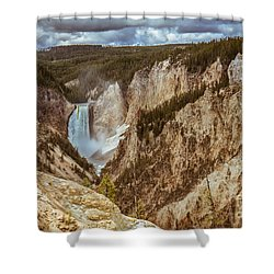 Shower Curtain featuring the photograph Lower Falls Framed by Robert Bales