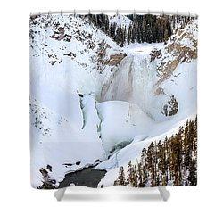 Lower Falls In The Grand Canyon Of The Yellowstone River Shower Curtain
