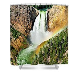 Shower Curtain featuring the photograph Lower Falls Rainbow by Greg Norrell