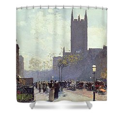 Lower Fifth Avenue Shower Curtain by Childe Hassam