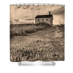Lower Fox Creek School Shower Curtain by Don Spenner