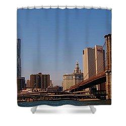 Lower Manhattan Nyc Shower Curtain