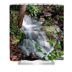 Lower Massanutten Spring Waterfall 2016 Shower Curtain